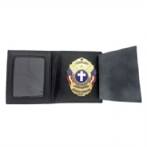 Genuine Leather Badge Wallet